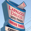 Pharmacy Signs- Lapalco Drugs